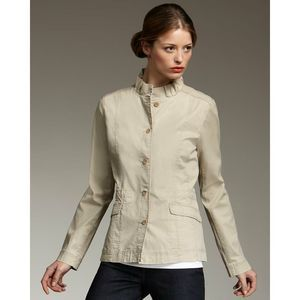 Eileen Fisher Utility Jacket S Ruffle Collar Up
